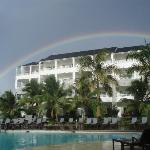 Rainbow over our resort