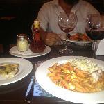Deliciosa cena en compañia de personas muy especiales!!