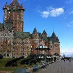 View of Chateau Frontenac from Terrasse Dufferin