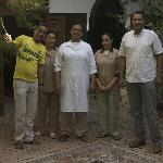 The wonderful staff at Riad Kasbah
