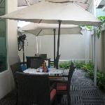 Alfresco style dining area