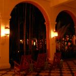 Coconut Grove loggia at night.