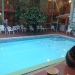the solarium and pool