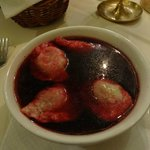 Beetroot Soup with Dumplings