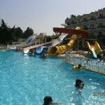 Pool with water attractions