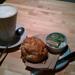 Cafe U best coffee and cheese scones in Kelso town
