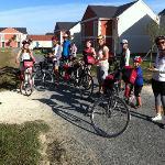 La mattina alla partenza della pedalata a Chenonceau