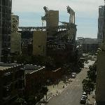 View from my 8th floor room, looking at the stadium