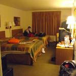 Room was spacious but out dated!