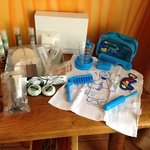 additional toiletry pack and kids pack