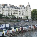The Grand Hotel and the beach huts