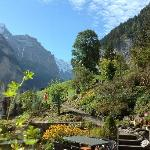 This is the view up the valley from the breakfast area. Wonderful way to start your morning
