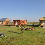 Shacks with Picnic Tables in Center