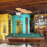 Pool room bar area