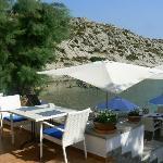 Lovely terrace for breakfast and dinner