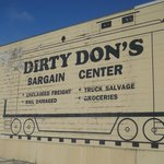 This was previously in the west exterior wall of Dirty Don's but has since been painted over.