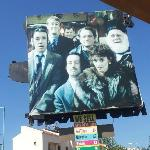 The billboard outside