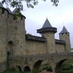 El Castillo de Carcassonne, Carcassone, Francia.