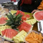 This delicious fresh fruit spread is part of the hearty lunch served