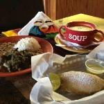 Full menu with empanada and soup!