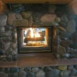 Front entrance fireplace