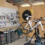 On site bike repair shop