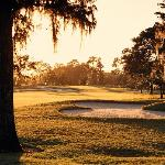 The course design masterfully uses the area's natural features.