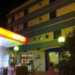 La entrada al hotel