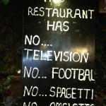 Nice sign in front of the restaurant.