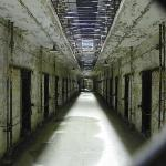 looking down a cell block from the lower level