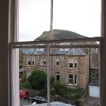 View of Holyrood Park from third floor room.
