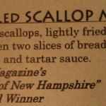 Fish Shanty Grilled Scallop Melt - YUMMY!