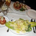Ceasar Salad + Lasagna + Veggies + Bruscetta = YUM!!