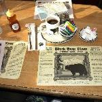 We loved the black bear theme. They were even on the sugar packets!