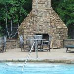 Pool fireplace