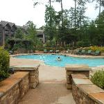 Pool area w/lodge view
