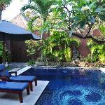Private pool area.