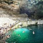 Not Ik Kil Cenote as was mentioned on the website.