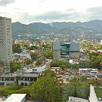 view of Poblado and mountains from guest room