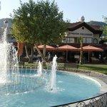 near the fountains