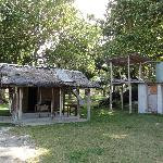 old bungalow and shared amenities