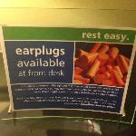 Noisy hotel offers ear plugs to guests