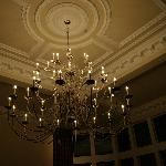 beautiful chandelier in lounge