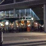 The pub at night