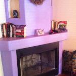 fireplace in casita C