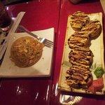 el arroz frito con pollo y los crazy rolls!