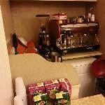 Barrista hjørnet, hvor Nathalie brygger te og kaffe