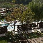 Poolbereich und Zimmerausblick