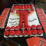 Texas Tech Cupcake Cake- every home game check-in a grab a cupcake