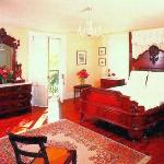 Bedroom of the Peach Suite